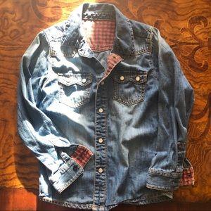 Other - Denim shirt boy or girl size 6-7